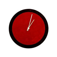Unique Wall Clock Red and Brown Clock Home and by Shannybeebo, $47.00