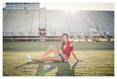 Take some Senior Photos at their HS Football field - love it!