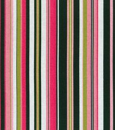 Home Decor Print Fabric- Waverly Beach Umbrella/Black/Pink: home decor fabric: fabric: Shop | Joann.com