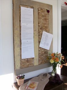 DIY cork board with wine corks