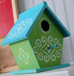 Birdhouse design ideas on pinterest birdhouses stencil - Bird house painting ideas ...