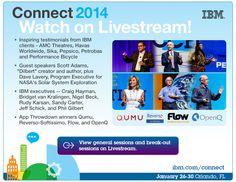 Livestream replay from #IBMConnect http://www.livestream.com/ibmsoftware/folder?dirId=e4b96685-7bd7-4353-bdc4-aa1e617cacab