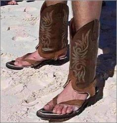 Crazy Redneck Texan - what are they? boots or flip-flops?
