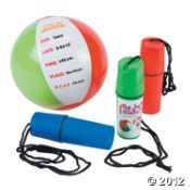 Beach Ball Invitation In Containers