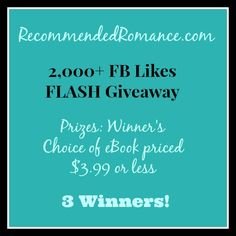 2k FB Likes Flash Giveaway! 3 Winners. Ends 1/20