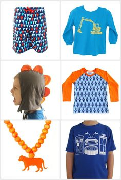 Bright and colorful boys' clothes from Mini Mayhem.