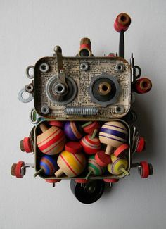 Recycled Art Assemblage  Top Bot  Original Mixed by redhardwick, $95.00