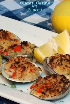 Clams Casino with Pancetta #bacon #clams #appetizer