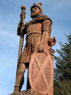 William Wallace statue near Melrose, Scotland