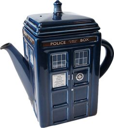 Doctor Who - TARDIS Tea Pot - TV / Movie - Dr. Who - - Buy Collectables, Action Figures, T-Shirts, True Blood & Pop Culture Merchandise from Popcultcha Australia