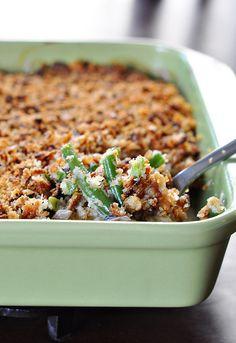 green beans, recip, scratch green, green bean casserole, from scratch, casserol artsandcraft