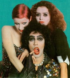 mick rock - rocky horror picture show (tim curry, nell campbell, patricia quinn)