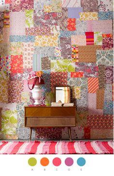 Beautiful patchwork wall design