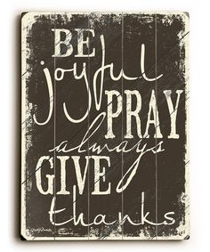Take a look at this 'Be Joyful' Wall Art by ArteHouse on #zulily