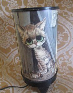 Vintage1960's Gig Big Eyed Cat & Dog Lamp by VirginiaDareVintage