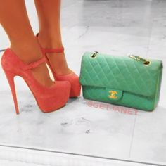 louboutin lady daf shoes and chanel bag