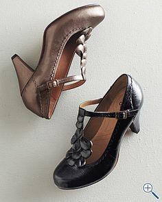 Indigo Priscilla Renee Petal T-strap shoes