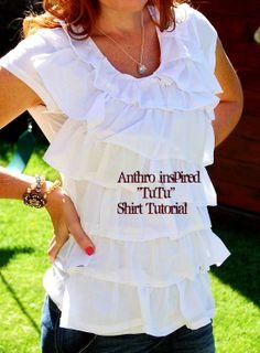 $4 Tee + $1 Dollar Store Towel = Fabulous Anthro-inspired Shirt!!