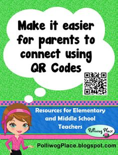 How to add QR Codes so parents can connect with you.