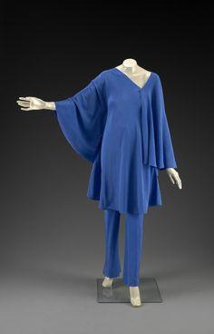Evening ensemble, Halston, c. 1976. Indianapolis Museum of Art.