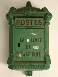green french antique mailbox