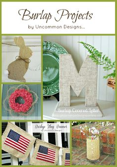 DIY:: Amazing Burlap Projects (these are all great !)