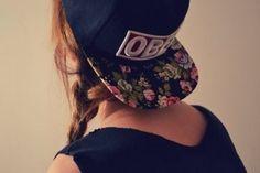 gorra floreada