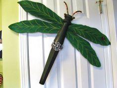 Table Leg Dragonfly Leaf Bug Wall or Garden by LucyDesignsonline,