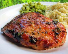 Honey Rosemary Pork Chops