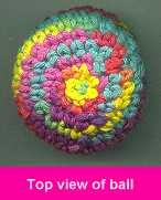 Bev's Hacky Sack- Foot Bag- how to make it. hacki sack, yarn, hackey sack