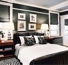 Black & White Masculine Bedroom