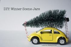 Poppytalk - The beautiful, the decayed and the handmade: Weekend Project: Winter Scene Mason Jars