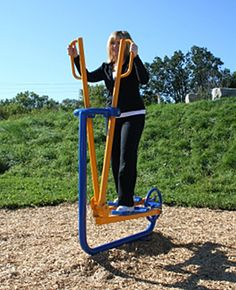 Low Impact Cardio Workout - OUTDOORS! All kids playgrounds should come with one for moms to use while their kids play.