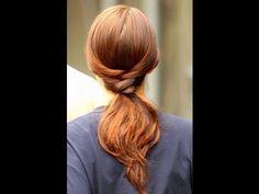 Blair's 5 Minute Ponytail from Gossip Girl hair tutorials, wet hair, blair waldorf, long hair, hairstyle tutorials, girl hairstyles, ponytail hairstyles, bridesmaid hairstyles, hair idea