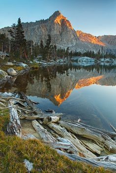 Big Five Lakes Reflections, Sequoia National Park, California