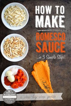 How To Make Romesco Sauce (Gluten Free and Vegan)