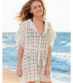 Beach Cover-up  (I know it says for the beach, but I think this would make the perfect fall accessory!)