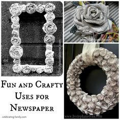 Fun and Crafty Uses For Newspaper