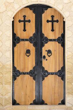 Door of Saint Hirmiz Chaldean Church - Mardin - Turkey