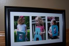 Each kid holds a letter of D-A-D, take a pic and frame them.