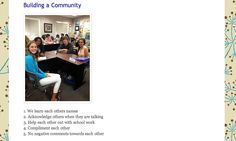 What would make this class feel like a community? What can your peers do to make you feel welcome? How can you help to keep this classroom a...