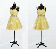 bead short, beati dress, yellow bead, bridesmaid dresses, yellow crystal, bead sweetheart, short bridesmaid, crystal bead, custom yellow