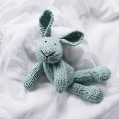 Handmade eco-friendly, felted and knitted animals by Forest Blue on Etsy :) knitted animals, toy, plush bunni, hands, handmad ooak, bunni rabbit, cotton bunni, design, blues