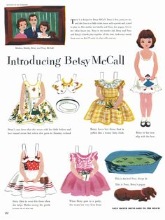 Introducing (the now beloved) Betsy McCall. #vintage #paper #dolls #paperdolls #nostalgia