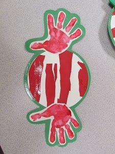 Handprint Peppermint (from Mrs. Karen's Preschool Ideas)