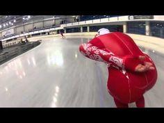 Footage of Speed Skating in Sochi Olympics Trials