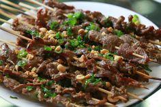 Vietnamese Soul Food: Grilled Beef with Lemongrass-Thịt Bò Nướng Xả