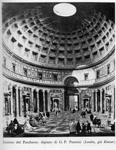Roma Sparita - Interno del PantheonFoto di Roma Sparita