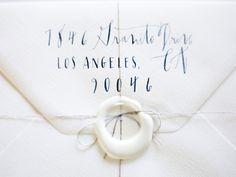 writing + wax seal   linea carta   jose villa via OnceWed Magazine