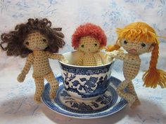 tea cup dolls crochet